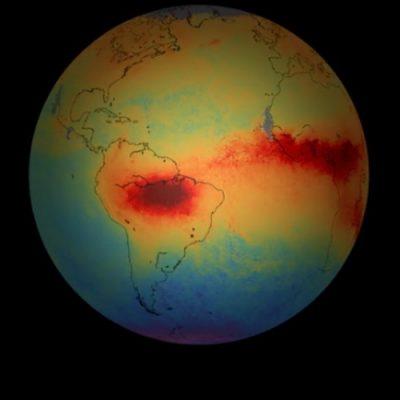 Imágenes satelitales permiten crear un mapa de gases contaminantes