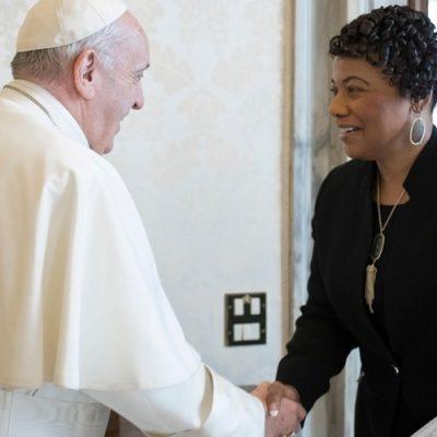 Estados Unidos: el Papa recibió a Bernice Albertine, hija de Martin Luther King