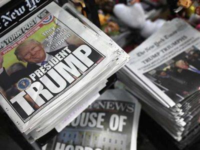 Los ataques de Trump a la prensa estigmatizados por más de 300 diarios