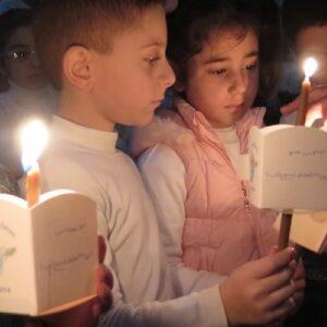 50 mil velas por la paz en Siria