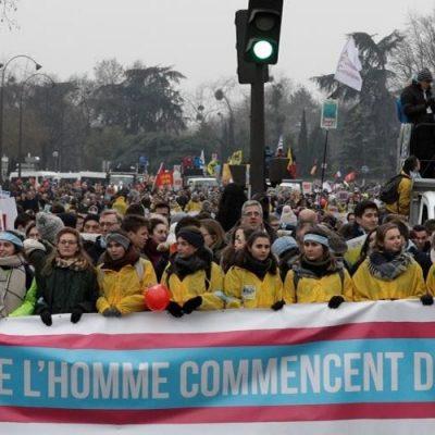 """""""Marcha por la Vida"""": Manifestaciones en París y Washington"""