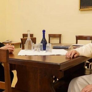 El Santo Padre visitó la Curia General de los jesuitas