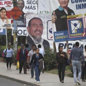 Duro revés para los partidos tradicionales en Perú