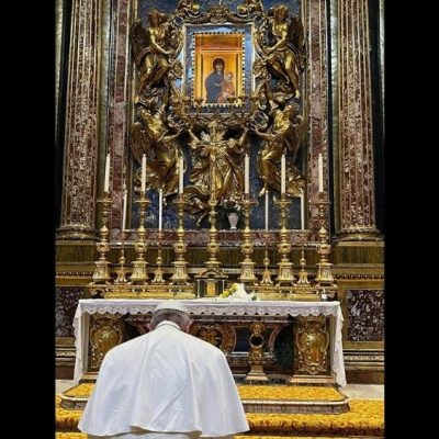 La acción de gracias del Papa Francisco en Santa María La Mayor a su regresó de Irak