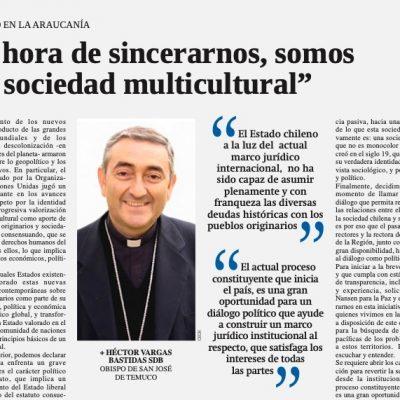 Obispo Héctor Vargas: «Es hora de sincerarnos, somos una sociedad multicultural»